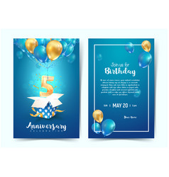 Celebration 5 th years birthday vector