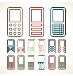 Cell phone abstract icons vector image