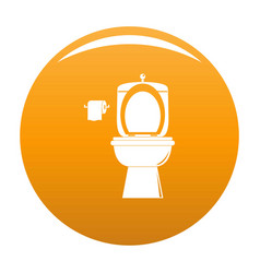 ceramic toilet icon orange vector image