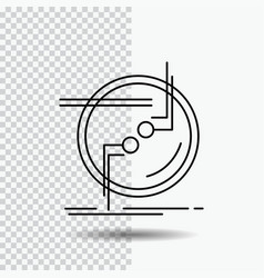 Chain connect connection link wire line icon on vector