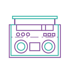 Color line radio object technology to listen music vector