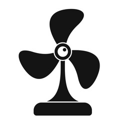 cooling fan icon simple style vector image