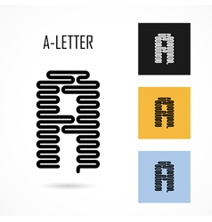 Creative a - letter icon abstract logo design vector