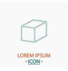Cube computer symbol vector