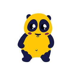 Cute cartoon panda icon vector
