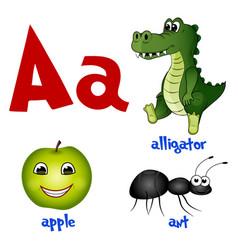 Cute kids cartoon alphabet letter vector