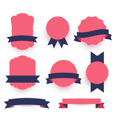Decorative labels and ribbons pack vector