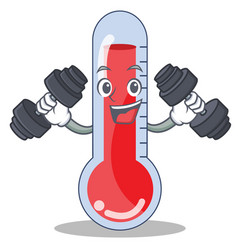 Fitness thermometer character cartoon collection vector