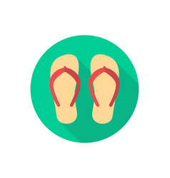 flip flops icon sign symbol vector image