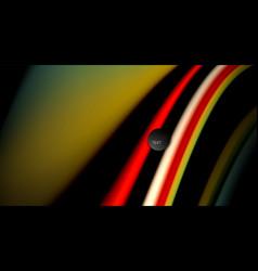 fluid rainbow colors on black background vector image