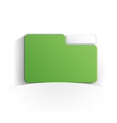 folder paper icon vector image
