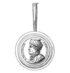 Franklin medallion vintage vector