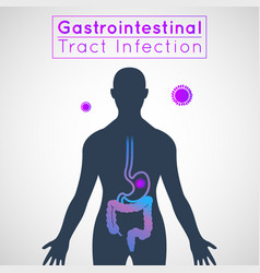 Gastrointestinal tract infection infographic icon vector
