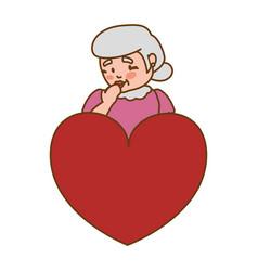 Grandmother elder heart love vector