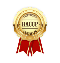 haccp certified site sign - quality standard vector image