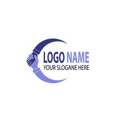 hand shake logo design vector image