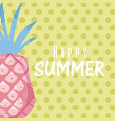 happy summer concept card vector image