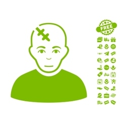 Head Hurt Icon With Free Bonus vector
