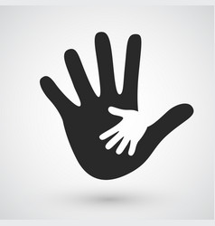 Helping hands icon care adoption pregnancy vector