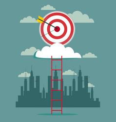 hitting big business target design cartoon vector image