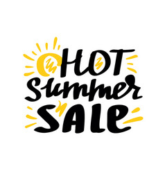 hot summer sale lettering vector image