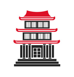 House japanese traditional chinese facade vector