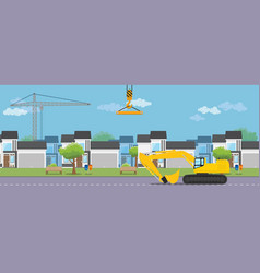 Housing real estate construction development vector