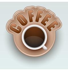 Label of Coffee Symbol for menu vector image vector image