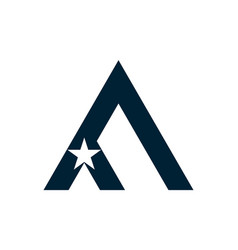 Letter a star icon logo vector