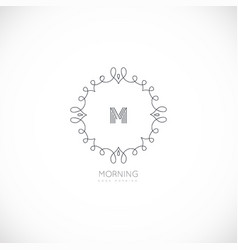 luxury monogram logo vector image