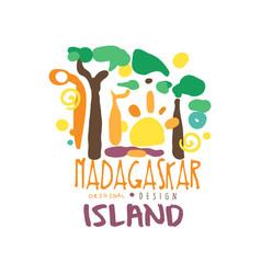 madagaskar island logo template original design vector image