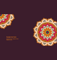 Mandala card flyer vector