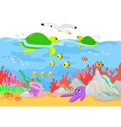marine life underwater vector image vector image