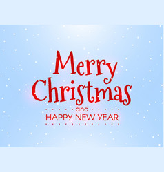 merry christmas and happy new year winter concept vector image