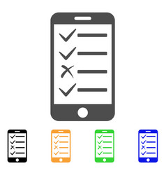 Mobile todo list flat icon vector