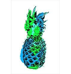 Modern color pineapple fruit art for summer vector image