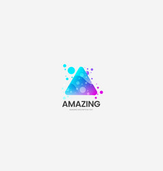 modern creative abstract triangle logo vector image