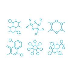molecule formula hormone structure the vector image