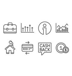 money transfer infochart and credit card icons vector image