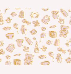 newborn baby pattern design neutral baby kid vector image