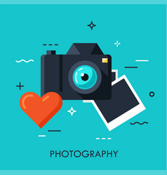 photography flat concept vector image