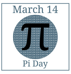 Pi day mathematical constant march 14 vector