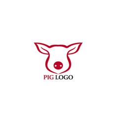pig head logo animal vector image