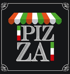 pizza design vector image