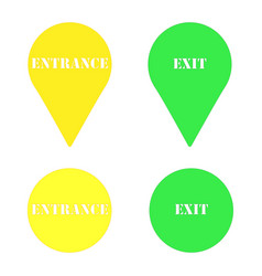 plate exit plate entrance vector image