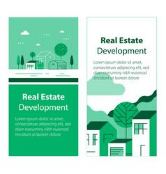 real estate development residential building vector image