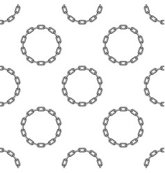 round chain background vector image
