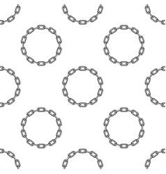 round chain background vector image