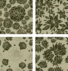 Seamless grunge florals vector