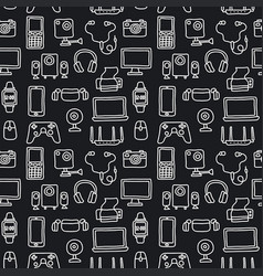 seamless pattern digital devices vector image